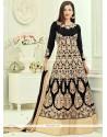 Gauhar Khan Resham Work Black Floor Length Anarkali Suit