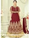 Gauhar Khan Faux Georgette Floor Length Anarkali Suit