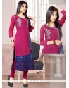 Adorable Embroidered Work Chanderi Party Wear Kurti