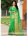 Deserving Green Weaving Work Designer Traditional Saree
