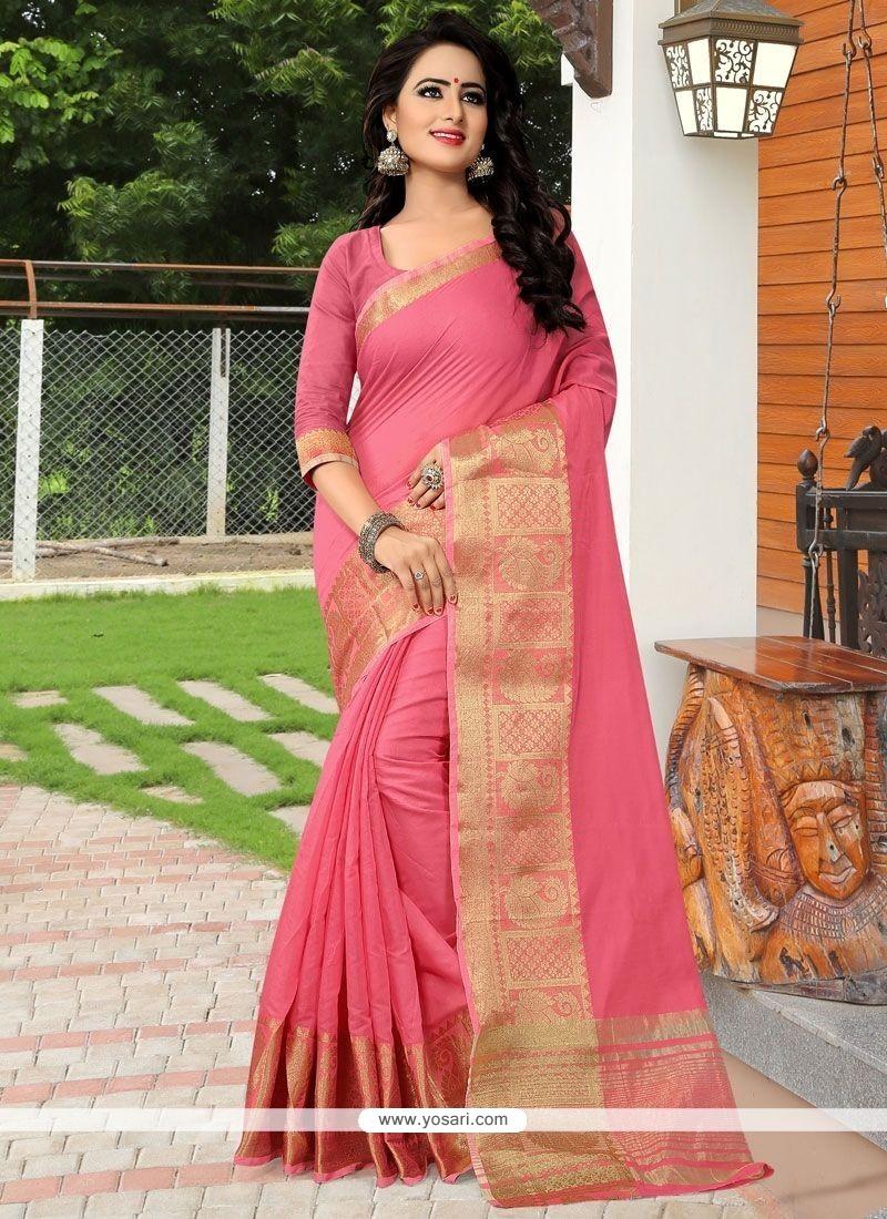 Epitome Banarasi Silk Pink Traditional Designer Saree