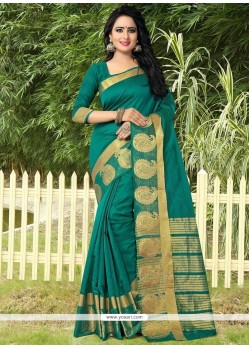 Vibrant Green Designer Traditional Saree
