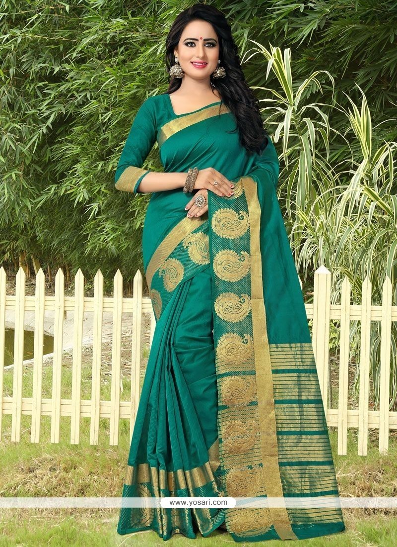 Vibrant Green Designer Traditional Saree