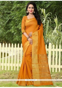 Graceful Banarasi Silk Mustard Traditional Designer Saree
