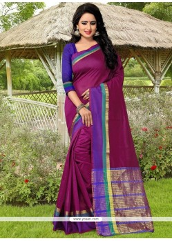 Gilded Magenta Banarasi Silk Designer Traditional Saree