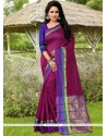 Gilded Magenta Banarasi Silk Designer Traditional Saree