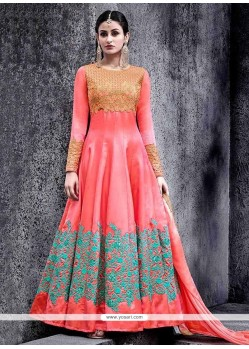 Irresistible Rose Pink Floor Length Anarkali Suit