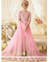 Specialised Pink Floor Length Designer Suit