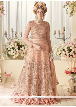 Dignified Net Floor Length Designer Suit