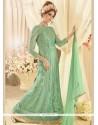Prodigious Sea Green Floor Length Designer Suit