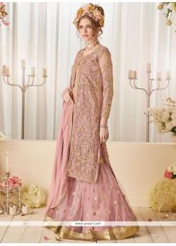 Zesty Pink Net Designer Suit