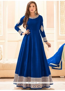 Best Resham Work Art Silk Floor Length Anarkali Suit