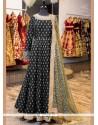 Aristocratic Lace Work Black Floor Length Anarkali Suit