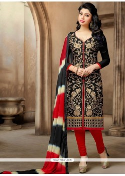 Miraculous Chanderi Embroidered Work Churidar Suit