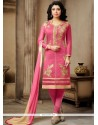 Suave Embroidered Work Churidar Suit