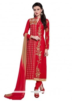 Noble Red Churidar Designer Suit