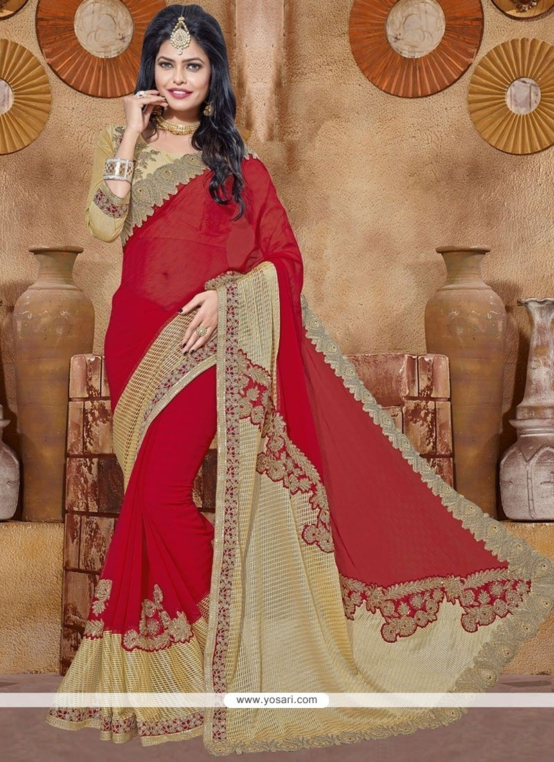 Modern Lace Work Classic Designer Saree
