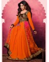 Orange Georgette Anarkali Suit