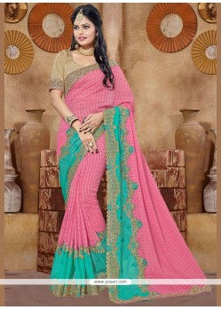 Nice Fancy Fabric Embroidered Work Classic Saree