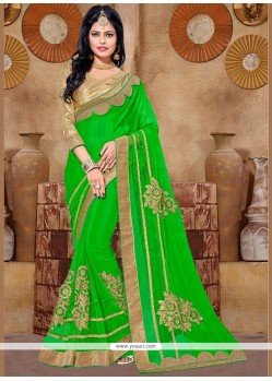 Modernistic Fancy Fabric Embroidered Work Saree