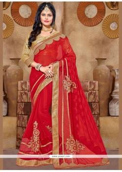 Grandiose Lace Work Fancy Fabric Classic Saree