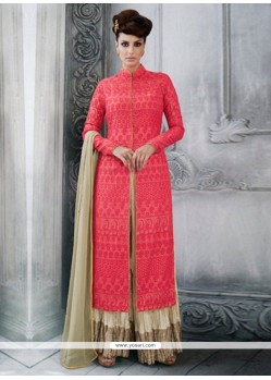 Modish Tussar Silk Designer Palazzo Suit