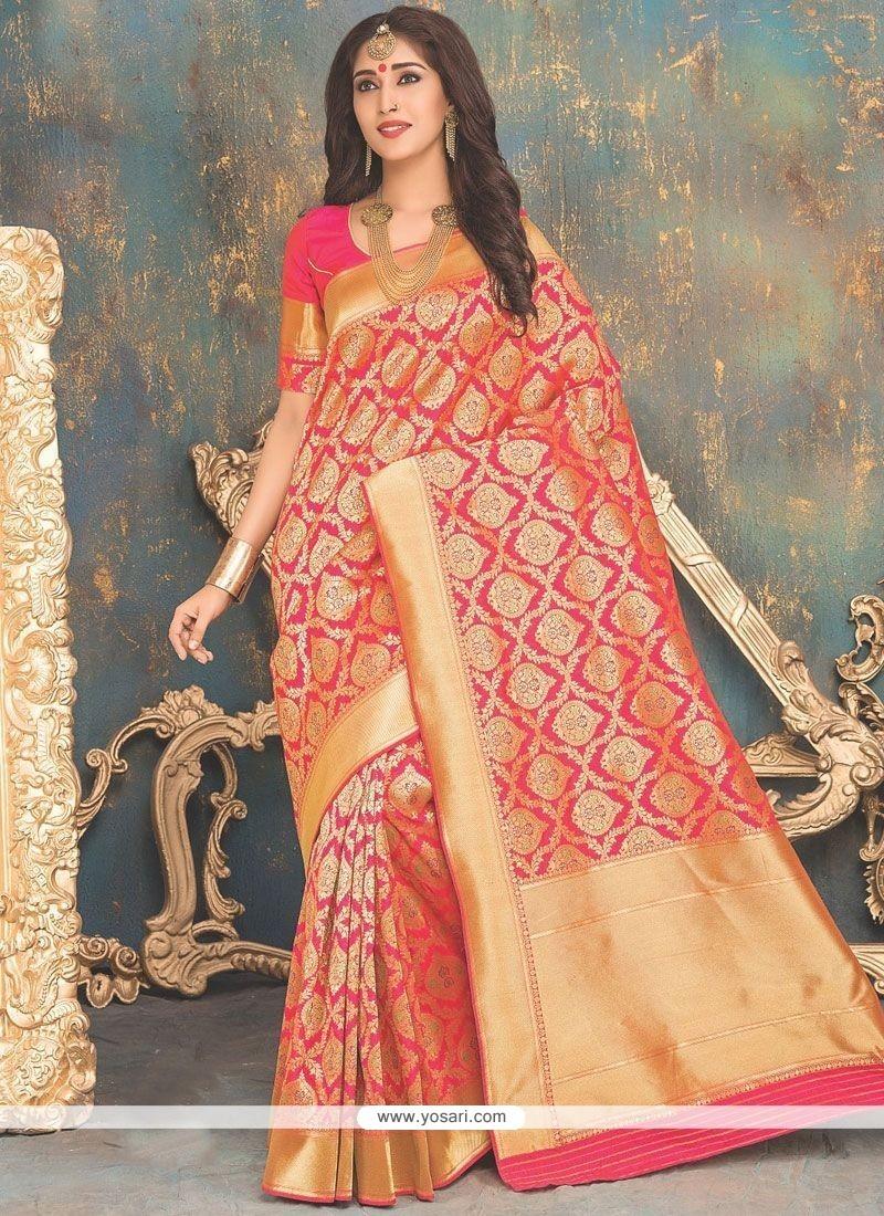 4ecedb9524 Buy Extraordinary Weaving Work Banarasi Silk Designer Traditional ...