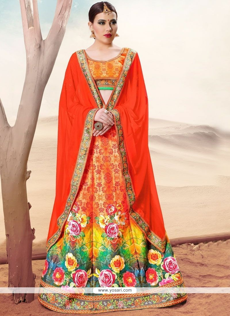 0cdddebf00 Buy Superlative Multi Colour Banarasi Silk Lehenga Choli | Wedding ...