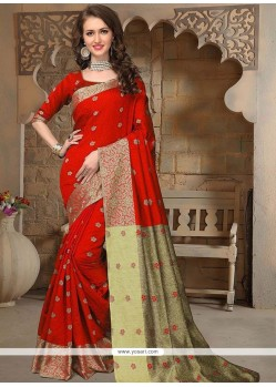 Eye-catchy Weaving Work Designer Traditional Saree