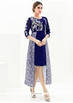 Excellent Navy Blue Designer Kurti