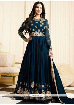 Ayesha Takia Teal Floor Length Anarkali Suit