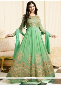 Ayesha Takia Resham Work Green Floor Length Anarkali Suit