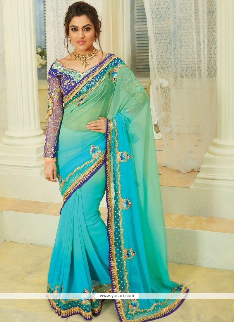 655cd5f51d Buy Grandiose Thread Work Designer Saree | Wedding Sarees
