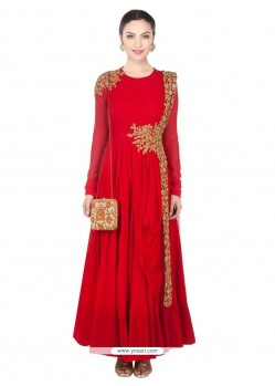 Red Net Designer Salwar Suit