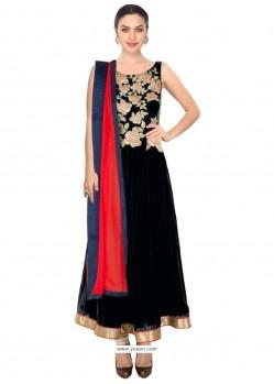 Ruritanian Georgette Black Designer Salwar Kameez