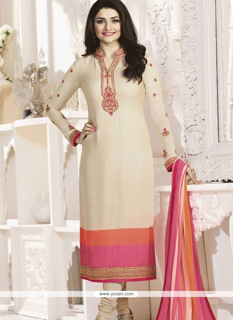 0fb084f45d4 Buy Prachi Desai Faux Crepe Churidar Designer Suit