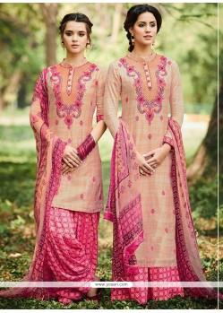 Vivacious Pink Designer Suit