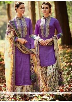 Paramount Cotton Satin Designer Suit