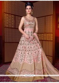 Glitzy Art Silk Floor Length Anarkali Suit