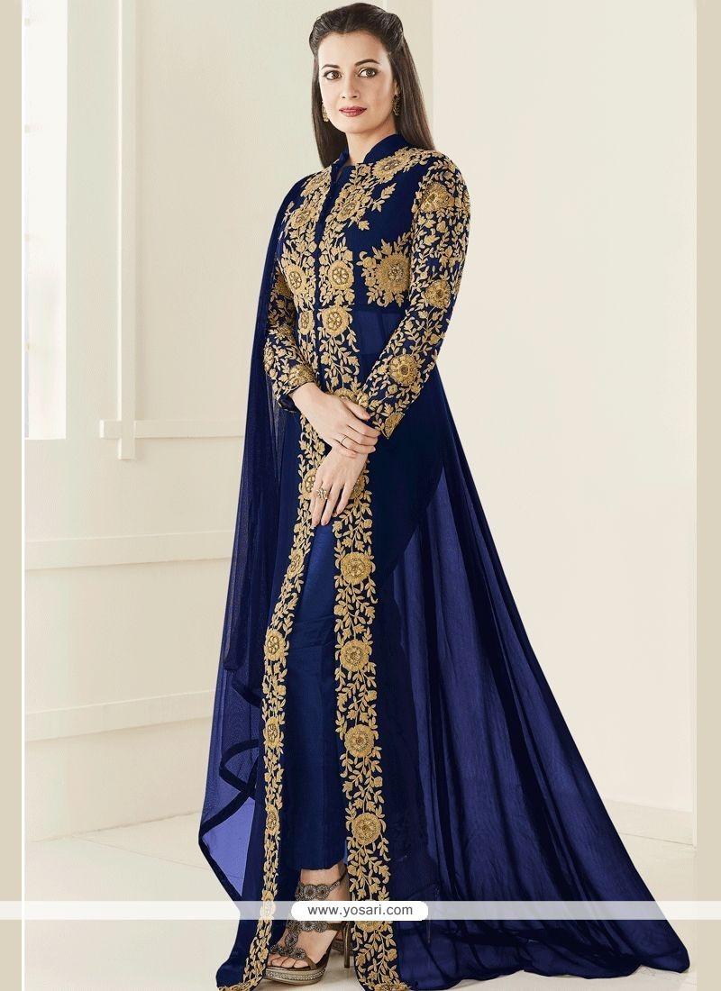 0398af412d3 Buy Diya Mirza Faux Georgette Designer Suit