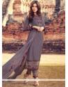 Magnetize Resham Work Cotton Violet Pant Style Suit