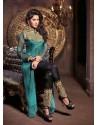 Black And Sky Blue Georgette Salwaar Kameez