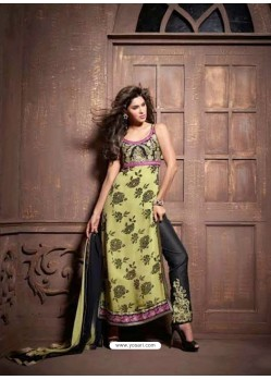 Multicolor Pure Georgette Salwaar Kameez
