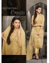 Cream Chiffon Punjabi Suit