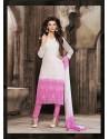 Pink And White Chiffon Punjabi Suit