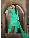 Green Chiffon Punjabi Suit