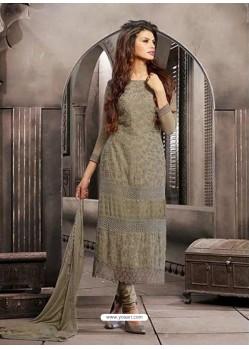 Grey Shade Chiffon Punjabi Suit