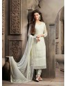 Off White Chiffon Punjabi Suit
