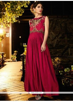 Magenta Readymade Gown