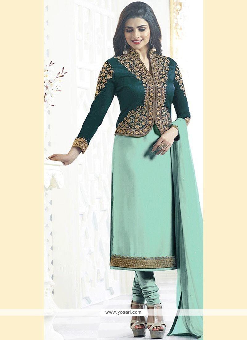 c3348e6b93 Buy Prachi Desai Faux Georgette Churidar Designer Suit. | Churidar ...